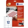 Avery zweckform L4726-20 naambadge insteekkaarten 40 x 75 mm wit (240 naambadges) L4726-20 212586