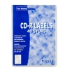 COLOR CD labels GROEN 2 per vel diagonaal (40 etiketten)  062010