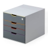 Durable Varicolor safe ladenblok grijs/gekleurd (4 laden) 760627 310000