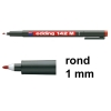 Edding 142M permanent marker rood (1 mm rond)