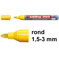Edding 250 whiteboard marker geel (1,5 - 3 mm rond) 4-250005 200839