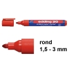 Edding 30 brilliant paper marker rood (1,5 - 3 mm rond)