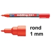 Edding 361 whiteboard marker rood (1 mm rond)