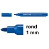Edding 366 mini whiteboard marker blauw (1 mm rond)