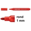 Edding 366 mini whiteboard marker rood (1 mm rond)