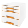 Leitz 5213 WOW ladenblok oranje metallic (4 laden) 52132044 202536