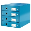 Leitz 6049 WOW ladenblok blauw metallic (4 laden) 60490036 211964