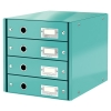 Leitz 6049 WOW ladenblok ijsblauw metallic (4 laden) 60490051 211966