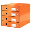 Leitz 6049 WOW ladenblok oranje metallic (4 laden) 60490044 211965