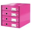 Leitz 6049 WOW ladenblok roze metallic (4 laden) 60490023 211963