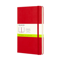 Moleskine large notitieboek blanco hard cover rood IMQP062R 313061