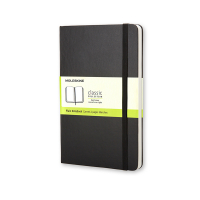 Moleskine pocket notitieboek blanco hard cover zwart IMQP012 313053