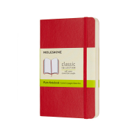 Moleskine pocket notitieboek blanco soft cover rood IMQP613F2 313056
