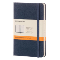 Moleskine pocket notitieboek gelineerd hard cover blauw IMMM710B20 313071