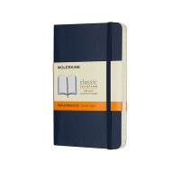 Moleskine pocket notitieboek gelineerd soft cover blauw IMQP611B20 313072