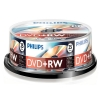 Philips DVD+RW rewritable 25 stuks in cakebox