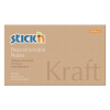 Stick'n zelfklevende notes kraft 76 x 127 mm 21640 400884